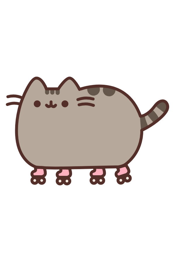 Rollerskate Pusheen Sticker