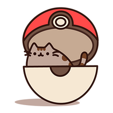Pusheen in Poke Ball