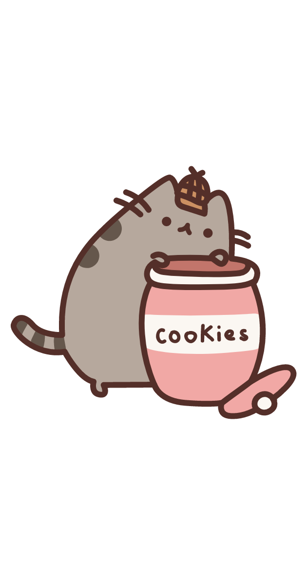 Detective Pusheen and Cookies Sticker