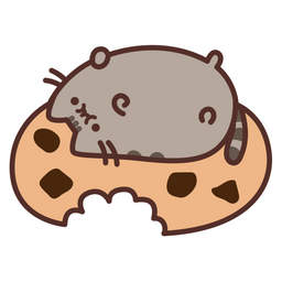 Pusheen and Big Cookie Sticker