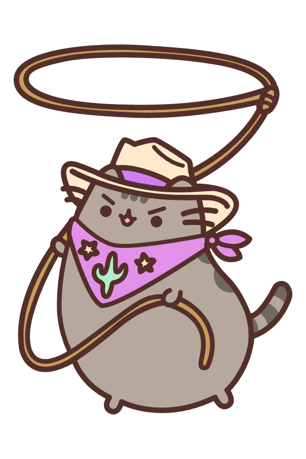 Cowboy Pusheen Sticker