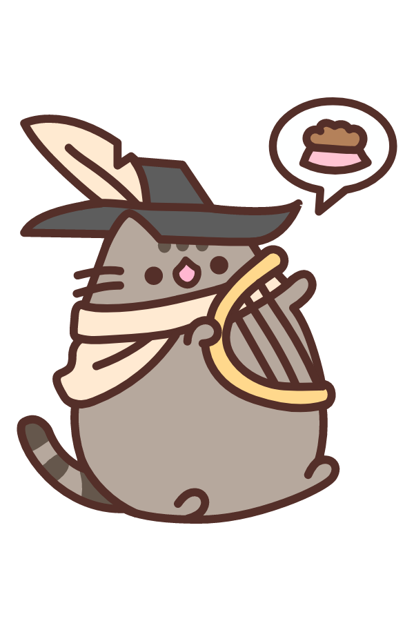 Pusheen Bard Sticker