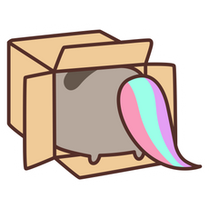 Mysterious Pusheenicorn Sticker