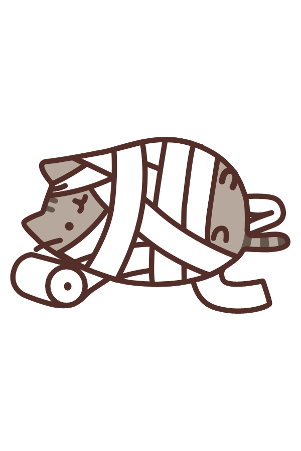 Pusheen Mummy Sticker