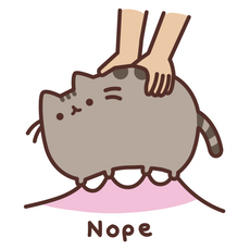 Pusheen Nope Sticker