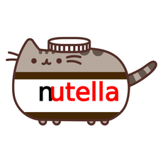 Pusheen Nutella Jar Sticker