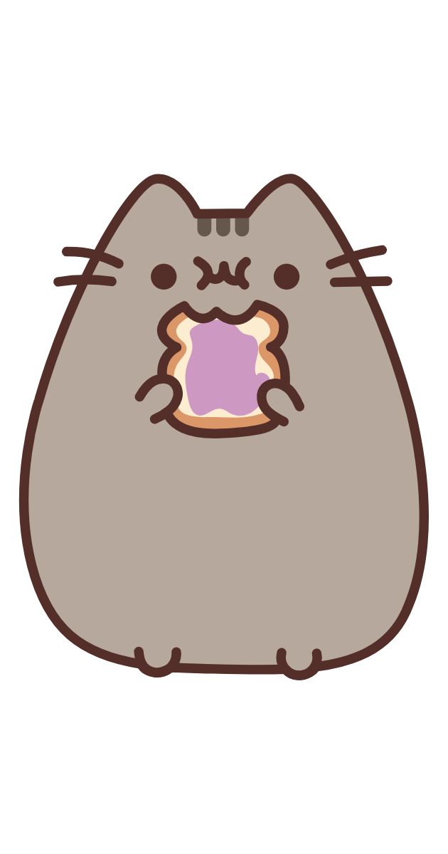 Pusheen Eating Jam Toast Sticker