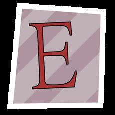 Ransom Alphabet Letter E