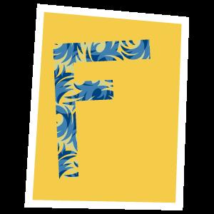Ransom Alphabet Letter F
