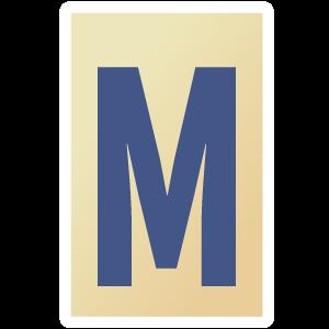 Ransom Alphabet Letter M