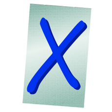 Ransom Alphabet Letter X