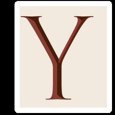 Ransom Alphabet Letter Y