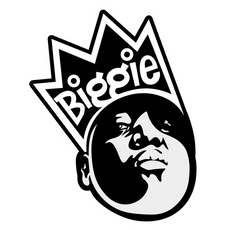 Biggie with Crown Sticker