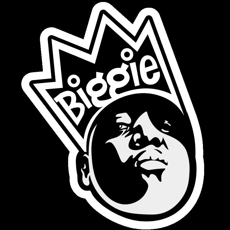 Biggie with Crown Sticker