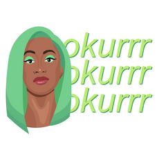 Cardi B Green Hair Okurrr Sticker
