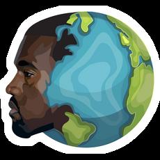 Kanye West Planet Earth Sticker