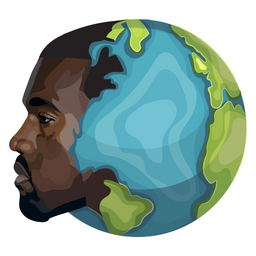 Kanye West Planet Earth Sticker