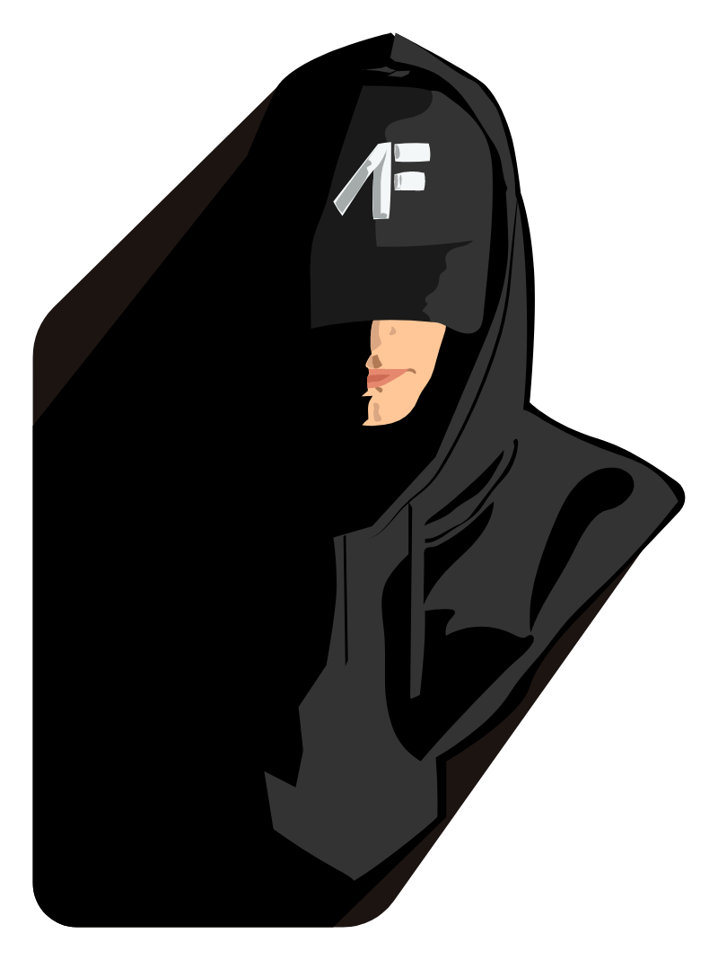 NF in Black Hoodie Sticker