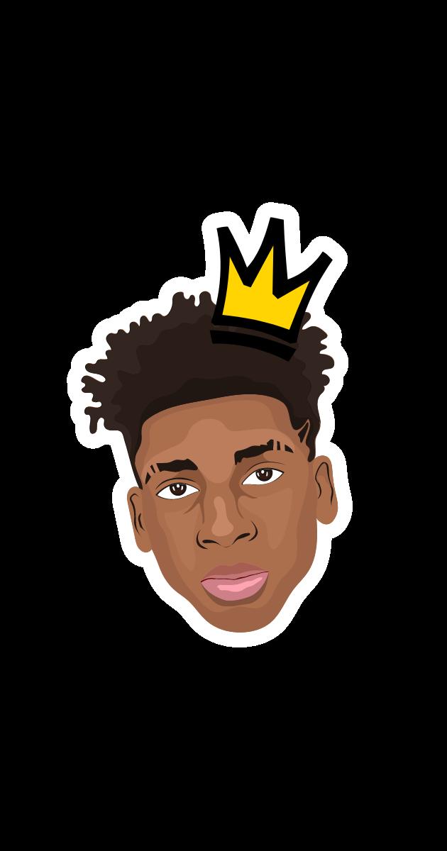 NLE Choppa with Crown Sticker