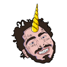 Post Malone Unicorn Sticker