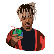Juice Wrld with Earth Planet Juice