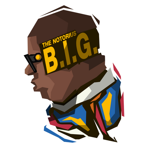 The Notorious B.I.G. Abstract Sticker