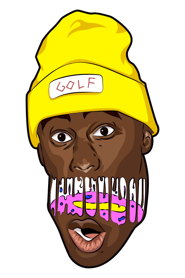 Tyler the Creator Drip Face Sticker
