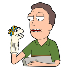 Jerry Smith and Sock Doll Sticker