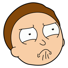 Rick and Morty Offended Morty Smith Sticker