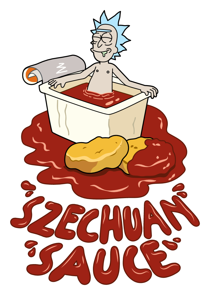 Rick and Morty Rick Sanchez Szechuan Sauce Sticker
