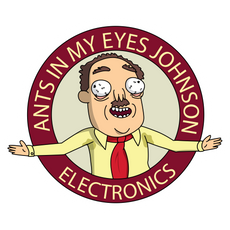 Rick and Morty Ants in my Eyes Johnson Electronics Sticker