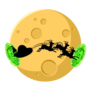 Rick and Morty Christmas Sleigh Sticker