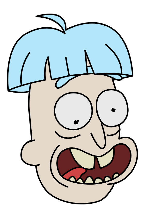 Rick and Morty Doofus Rick Sticker