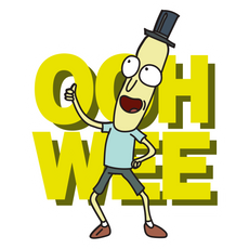 Rick and Morty Mr. Poopybutthole Ooh Wee Sticker