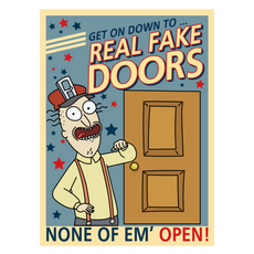 Rick and Morty Real Fake Doors Sticker