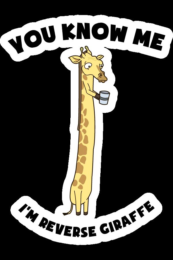 Rick and Morty Reverse Giraffe Sticker