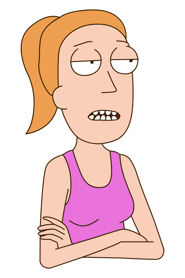 Rick and Morty Summer Smith Crossed Arms Sticker