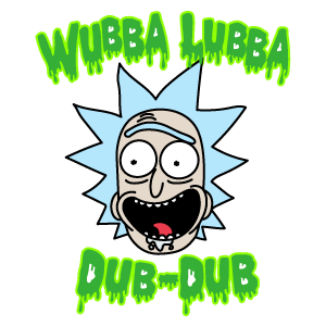 Rick and Morty Wubba Lubba Dub-Dub Rick Sticker