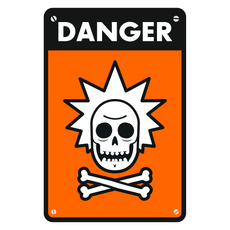 Rick Sanchez Warning Sign Sticker