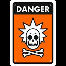 Rick Sanchez Warning Sign Sticker