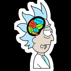 Rick Sanchez's Thoughts Sticker