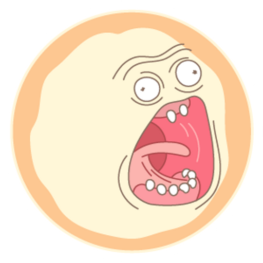 Rick and Morty Screaming Sun