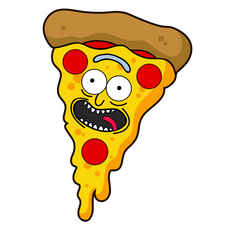 Rick and Morty Pizza Rick Sticker