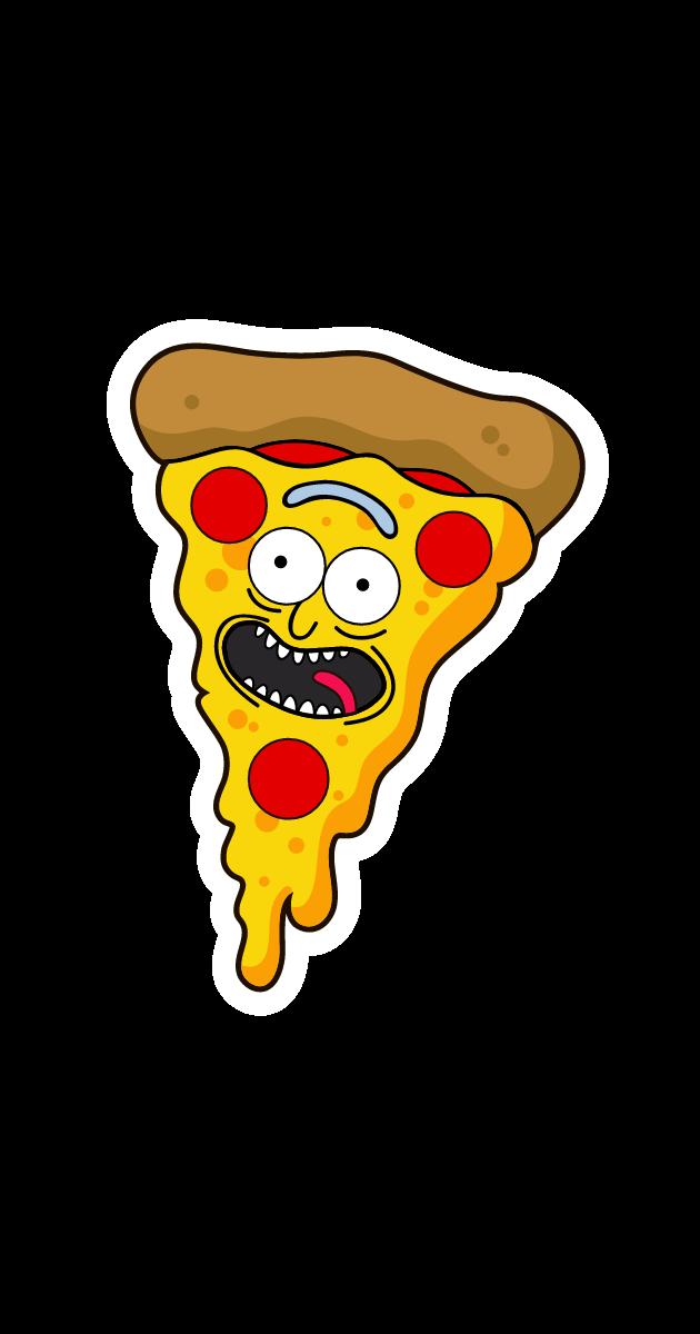 Rick and Morty Pizza Rick Sticker