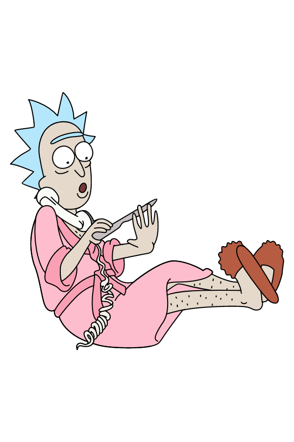 Rick and Morty Housewife Rick Sanchez Sticker