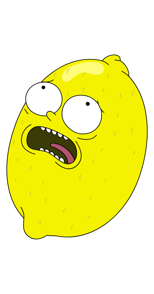 Rick and Morty Scared Lemon Sticker
