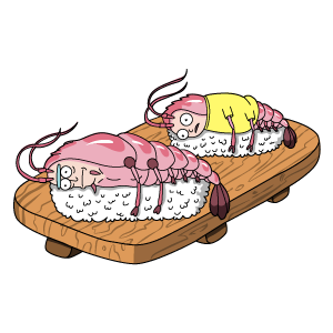 Sushi Rick and Morty Sticker