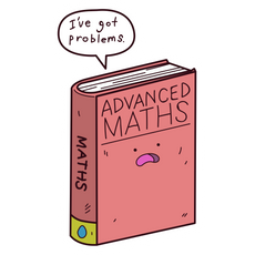Advanced Math Book Problems Sticker