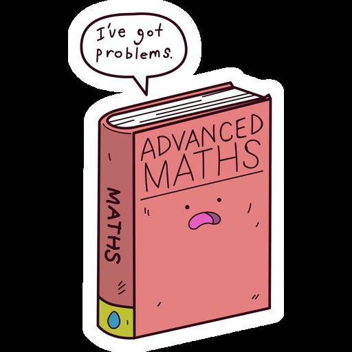 Advanced Math Book Problems Sticker