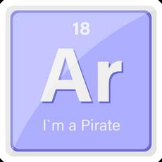Ar the Element I am Pirate Sticker